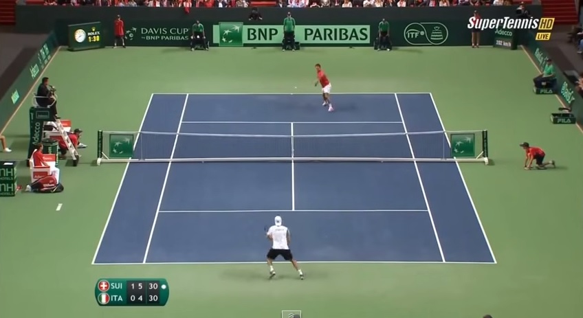 Les meilleurs points de Roger Federer lors de la Coupe Davis 2014.