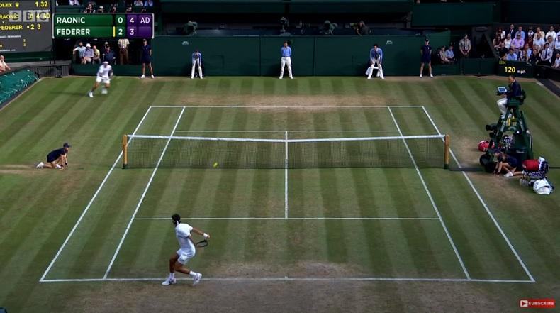 Les 19 plus beaux points de Roger Federer à Wimbledon en 2017