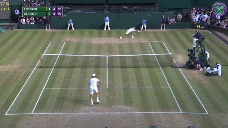 Le passing somptueux, au talent, de Roger Federer (1/2 Wimbledon 2017)