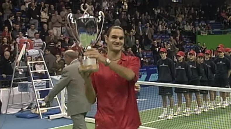 Le premier titre ATP de Roger Federer à Milan, en 2001.