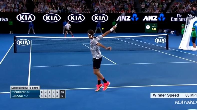 Roger Federer avait été injouable en revers pour battre Nadal en finale de l'Open d'Australie 2017.