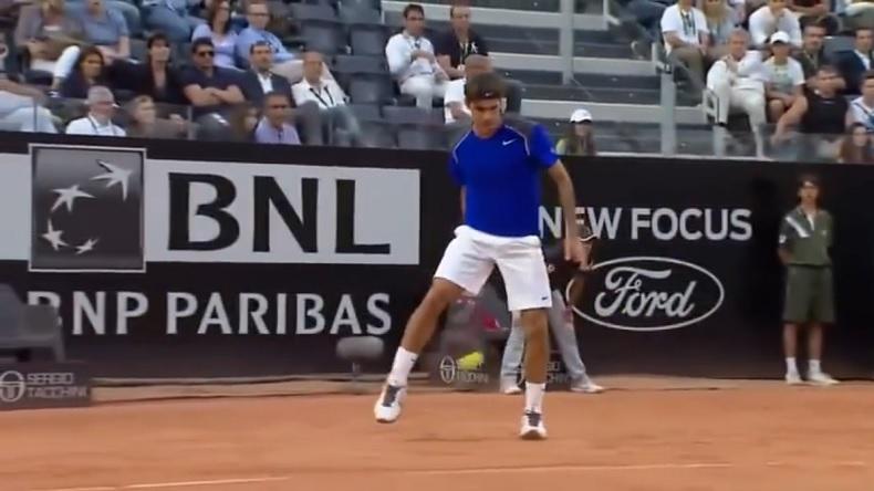 Les meilleurs improvisations de Roger Federer.