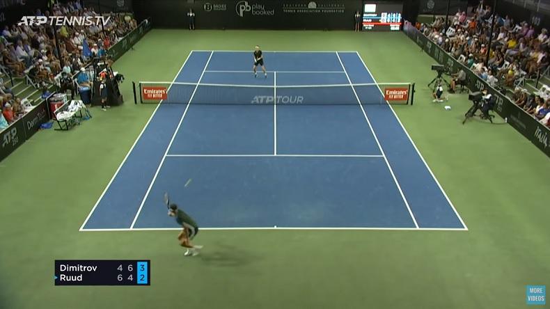 Un match magnifique entre Casper Ruud et Grigor Dimitrov en demi-finales du tournoi de San Diego 2021.