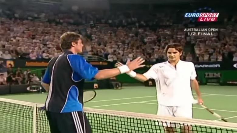 Marat Safin et Roger Federer ont disputé une rencontre d'anthologie en demi-finales de l'Open d'Australie 2005.