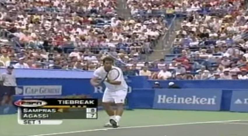 Un niveau de jeu exceptionnel entre Pete Sampras et Andre Agassi en demi-finales du tournoi de Cincinnati 1999.
