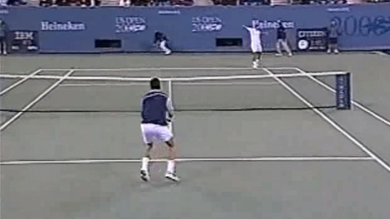 Onze minutes de service-volée dans ce résumé du quart de finale de l'US Open 2000 entre Richard Krajicek et Pete Sampras.