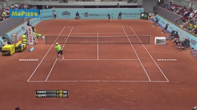 La faute grossière d'Andreas Seppi au Masters 1000 de Madrid 2013.