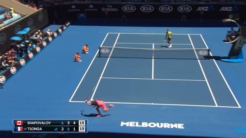 Denis Shapovalov et Jo-Wilfried Tsonga ont livré un match splendide à l'Open d'Australie 2018.