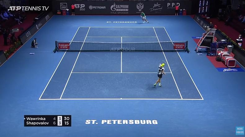 Denis Shapovalov a remporté la bataille des revers à une main contre Stan Wawrinka à Saint-Pétersbourg.