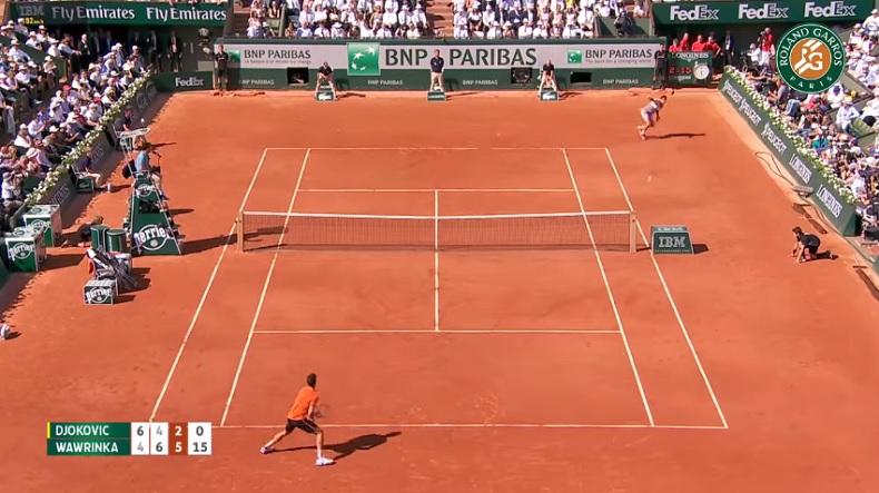 Wawrinka frappe un des coups de l'année (Finale Roland-Garros 2015)