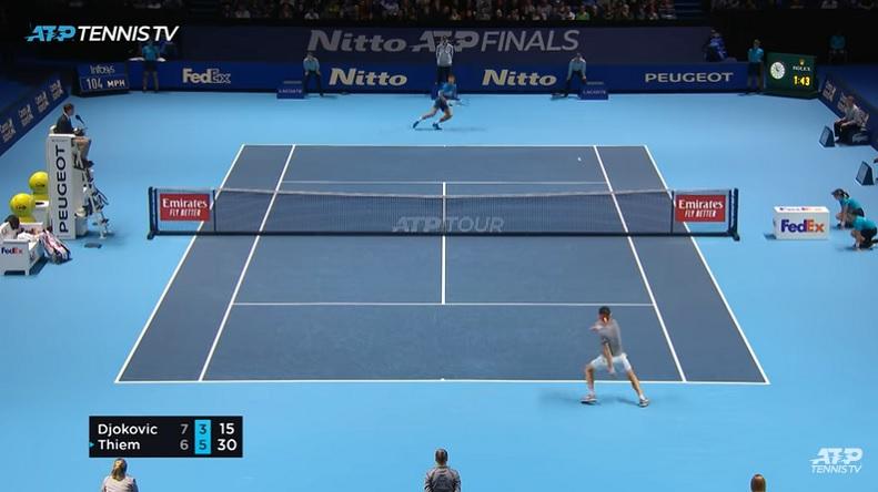 Un match de mutant entre Thiem et Djokovic au Masters 2019.