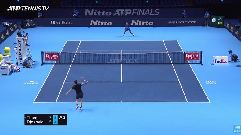 Dominic Thiem a encore été impressionnant contre Djokovic, en demi-finales du Masters 2020.
