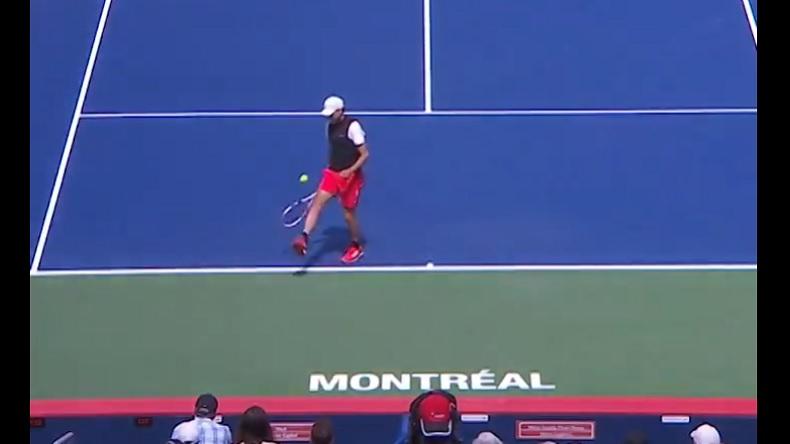 Le contrôle de balle superbe de Dominic Thiem à Montréal.