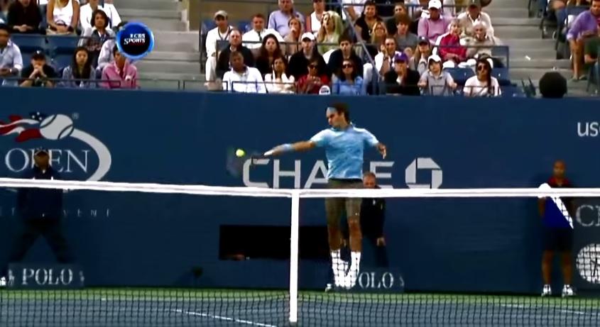 Les coups droits décroisés de Roger Federer