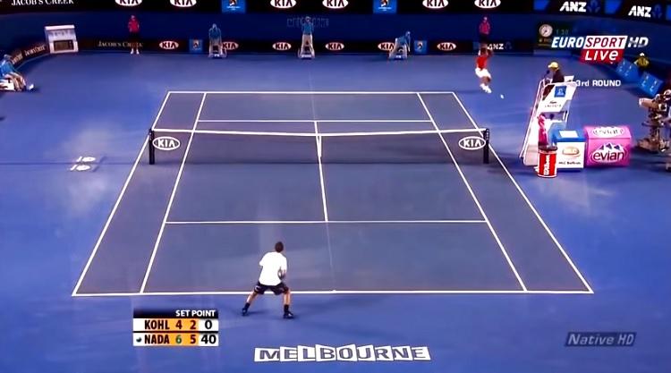 Les banana shots de Rafa Nadal sont incroyables.