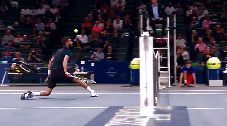 Le toucher de balle à l'honneur sur Tennis Legend.