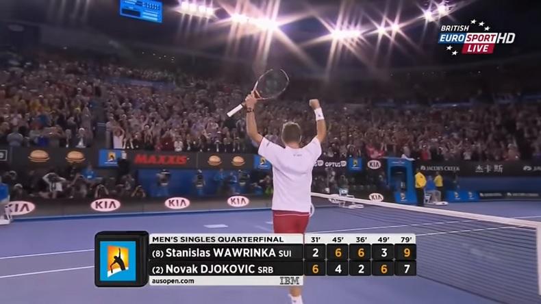 Stan Wawrinka prend sa revanche sur Novak Djokovic à l'Open d'Australie 2014 à l'issue d'un nouveau match de légende.