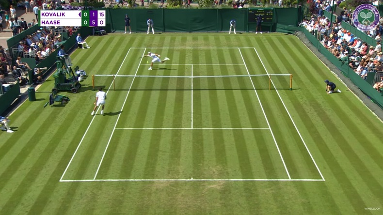 Tous les hot shots du tournoi de Wimbledon 2019.