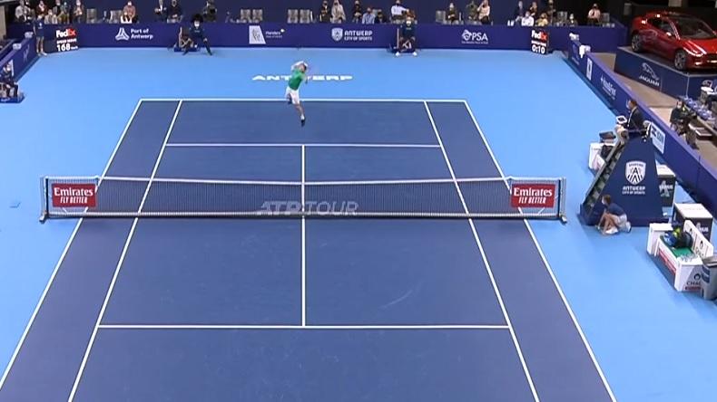 Malgré la défaite, Zizou Bergs a livré un grand match contre Karen Khachanov à Anvers.