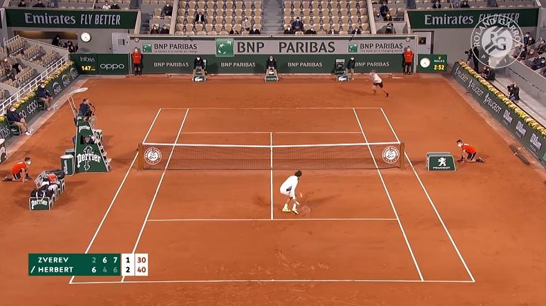 Un match superbe entre Zverev et Herbert, au deuxième tour de Roland-Garros 2020.