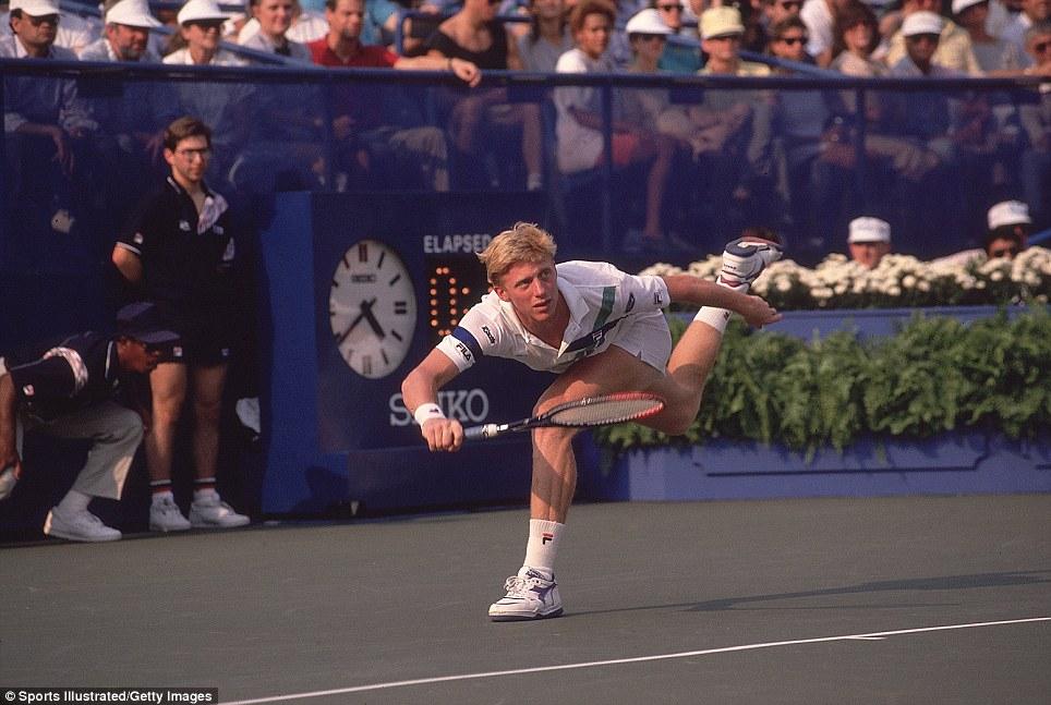 Boris Becker en finale de l'US Open 1989 (Crédit Sports Illustrated / Getty Images)