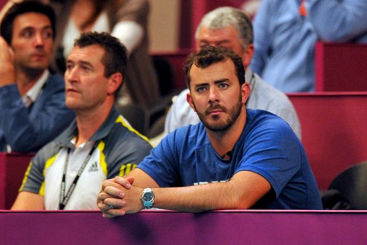 """Thierry Ascione, alias """"Beef"""", le co-entraîneur de Jo-Wilfried Tsonga et de Nicolas Mahut."""