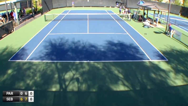 Petite bagarre entre deux joueuses dans un tournoi ITF à Las Vegas. Les belles valeurs du tennis.