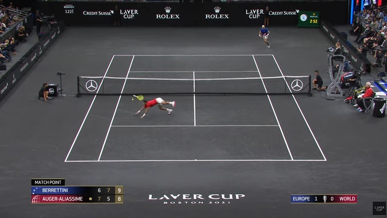 Matteo Berrettini et Felix Auger-Alliasime ont joué quasiment trois heures à la Laver Cup 2021 dans un match avec super tie-break au troisième set.