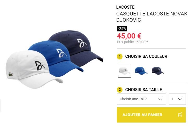 La casquette Djokovic