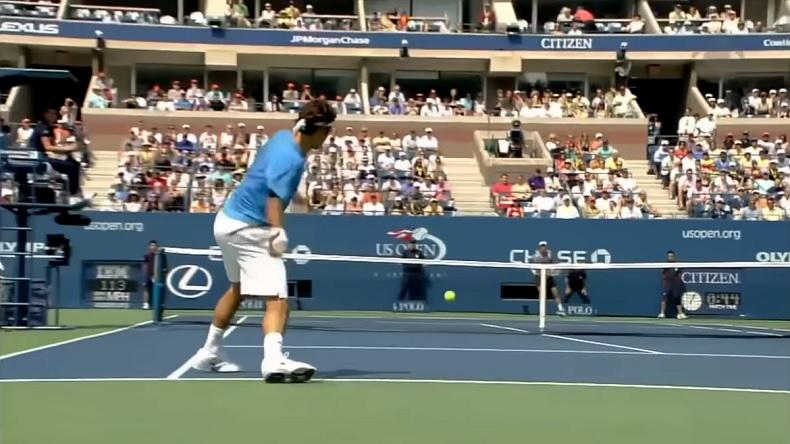 Une compilation de coups de fusil de Roger Federer.