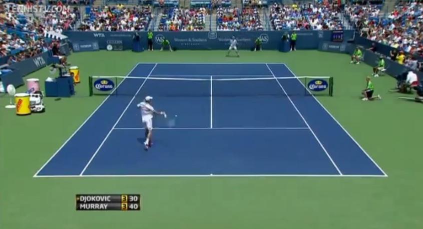 Un rallye de 42 frappes entre Novak Djokovic et Andy Murray au Masters 1000 de Cincinnati 2011.