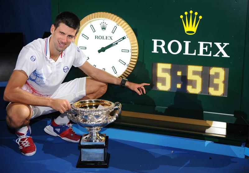 Novak Djokovic aura eu besoin de 5h53 de jeu pour venir à bout de Rafael Nadal en finale de l'Open d'Australie 2012. Le match de l'année ! (DR)