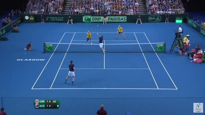 Un double d'anthologie en demi-finales de la Coupe Davis 2015 entre les frères Murray et la paire Hewitt / Groth.