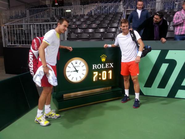 Tomas Berdych et Lukas Rosol ont gagné le plus long match de l'histoire de la Coupe Davis en 2013.