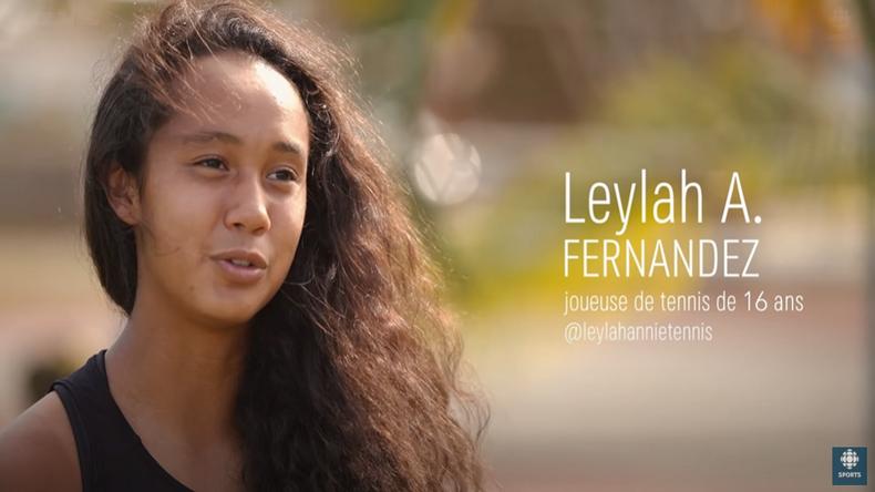Leylah Fernandez, la fille très prometteuse d'une famille qui a tout misé sur le tennis.