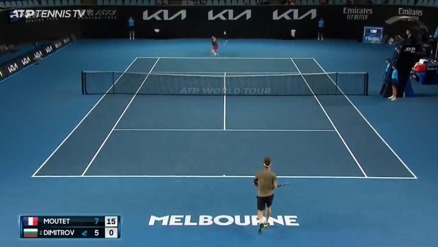 Un point magnifique de Grigor Dimitrov contre Corentin Moutet au Murray River Open 2021, à Melbourne.