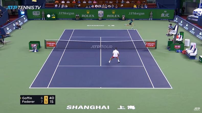 Un coup de raquette magique de David Goffin contre Roger Federer au Masters de Shanghai 2019.