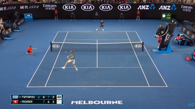 Il y a eu quelques points de fou entre Federer et Tsitsipas à l'Open d'Australie 2019.