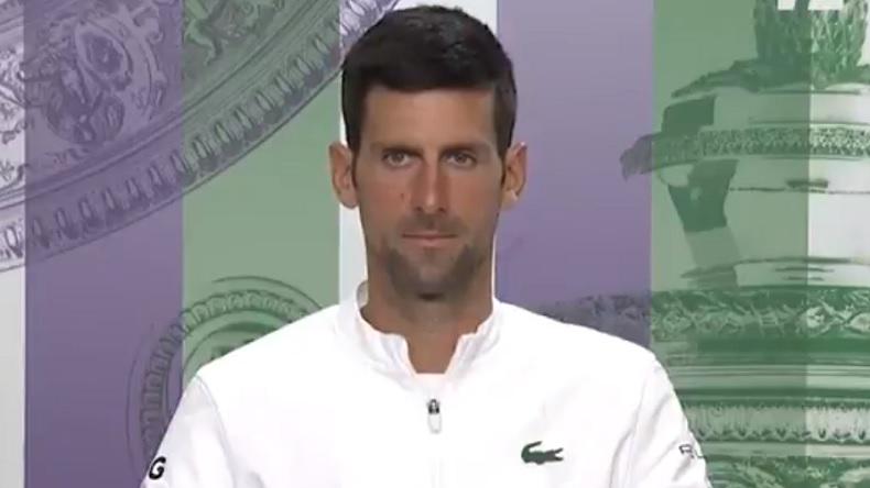 Une question dégueulasse d'un journaliste à Novak Djokovic à Wimbledon mais une réponse classe du n°1 mondial.