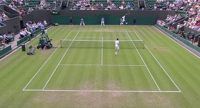 Gaël Monfils et Adrian Mannarino se sont bien amusés au deuxième tour de Wimbledon 2015.