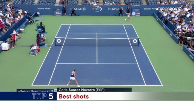 Le revers surpuissant de Carla Suarez Navarro (US Open 2016)