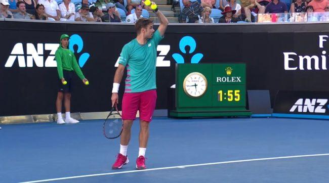 Quand Stan Wawrinka guide un fan de Federer (Open d'Australie 2017)