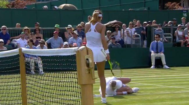 La blessure terrible de Bethanie Mattek-Sands (Wimbledon 2017)