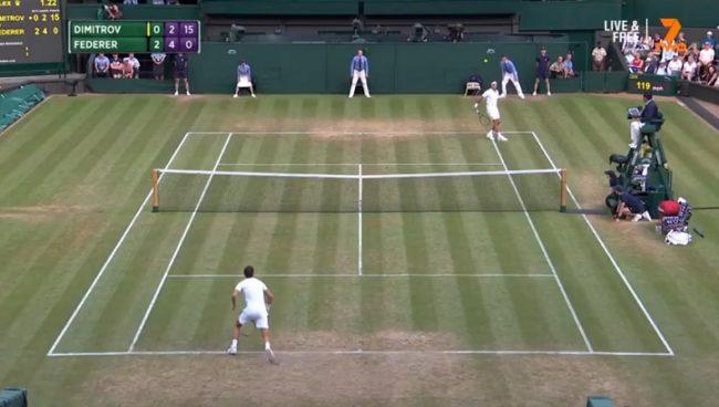 Le retour amorti indécent de Roger Federer (Wimbledon 2017)