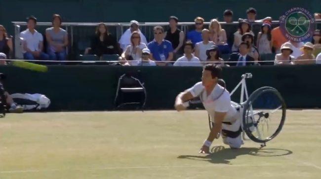 Le point légendaire de Gustavo Fernandez en tennis-fauteuil (Wimbledon 2015)