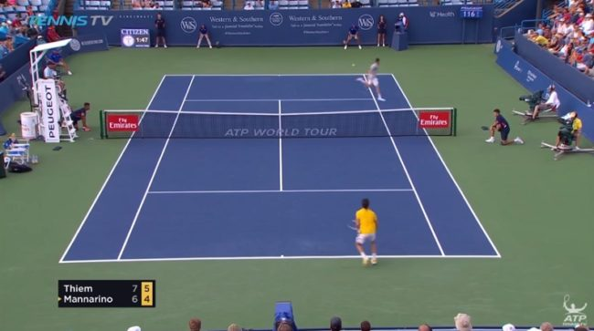 Le point génial de Mannarino contre Thiem (Cincinnati 2017)
