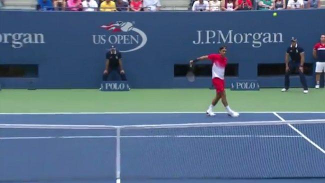 Le retour amorti outrageux de Roger Federer (US Open 2017)