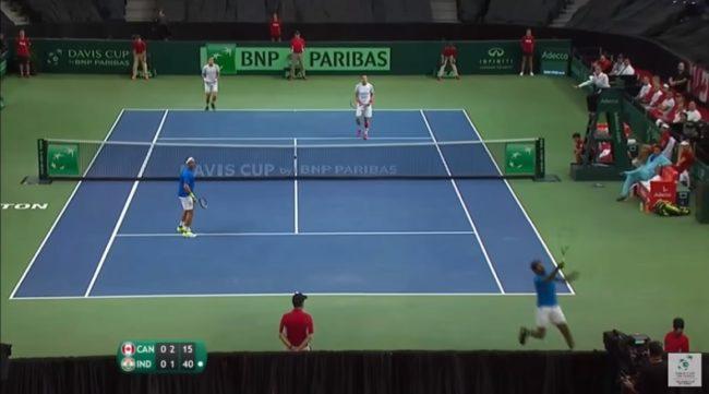 Le coup de dingue de Rohan Bopanna (Coupe Davis 2017)