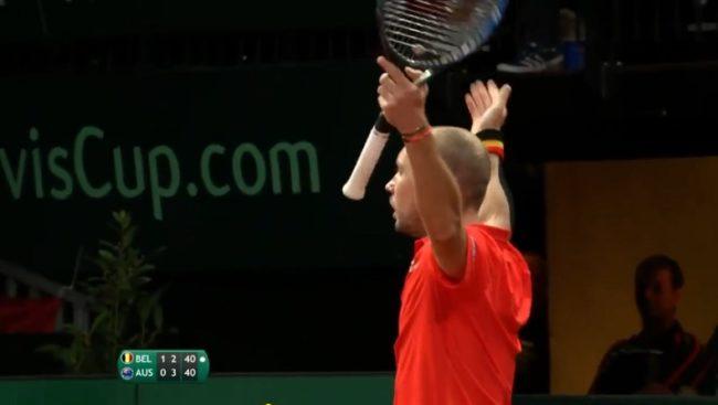 Steve Darcis envoie la Belgique en finale et remporte un rallye de 49 frappes (Coupe Davis 2017)