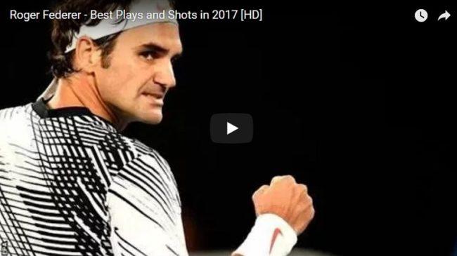 La compilation des meilleurs points de Federer en 2017